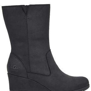 b8347066997 Ugg Black Joely Waterproof Wedge Boot